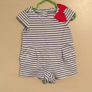Janie and Jack White and Blue Romper